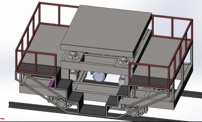 研发的可升降电动平车